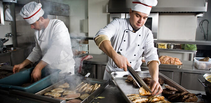 Cooking in the food business